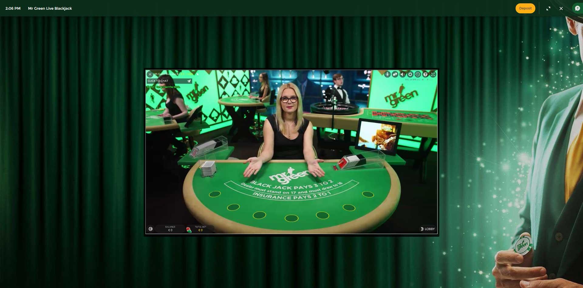 mr green casino customer service