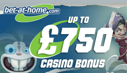 bet at home casino bonus